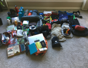 My six week collection. All on the bike and in the trailer. Adventure awaits.
