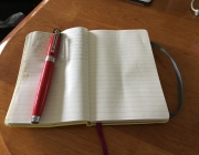 My journal and my fountain pen. Visceral is best